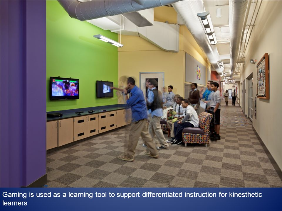 Gaming is used as a learning tool to support differentiated instruction for kinesthetic learners