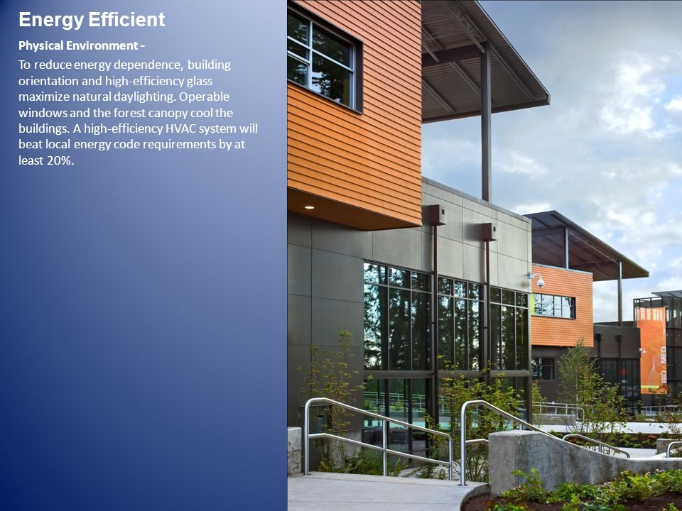 Energy Efficient Physical Environment -