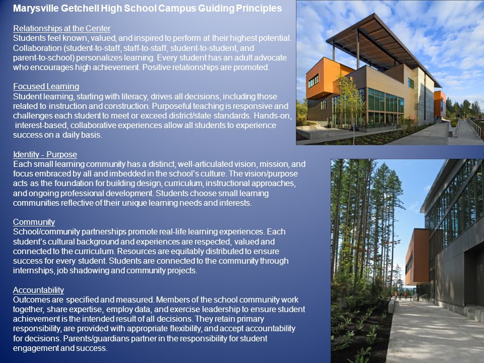 Marysville Getchell High School Campus Guiding Principles