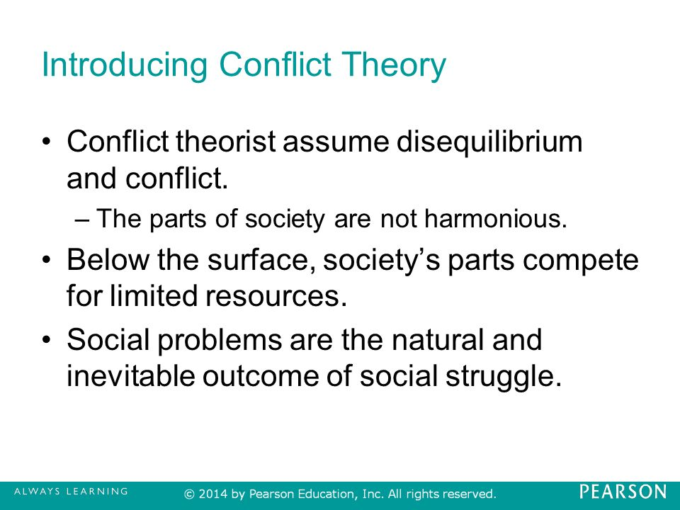 examples of conflict theory in education