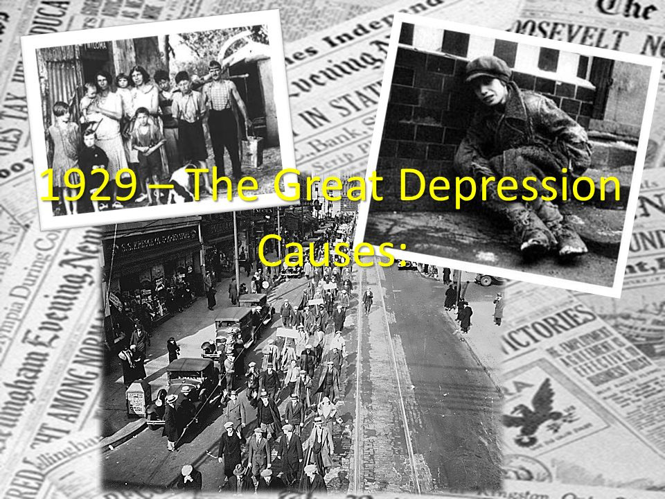the causes of the great depression in 1929 in the united states In this video, the causes of the stock market crash and the great depression are discussed the 1930s saw a prolonged period of.