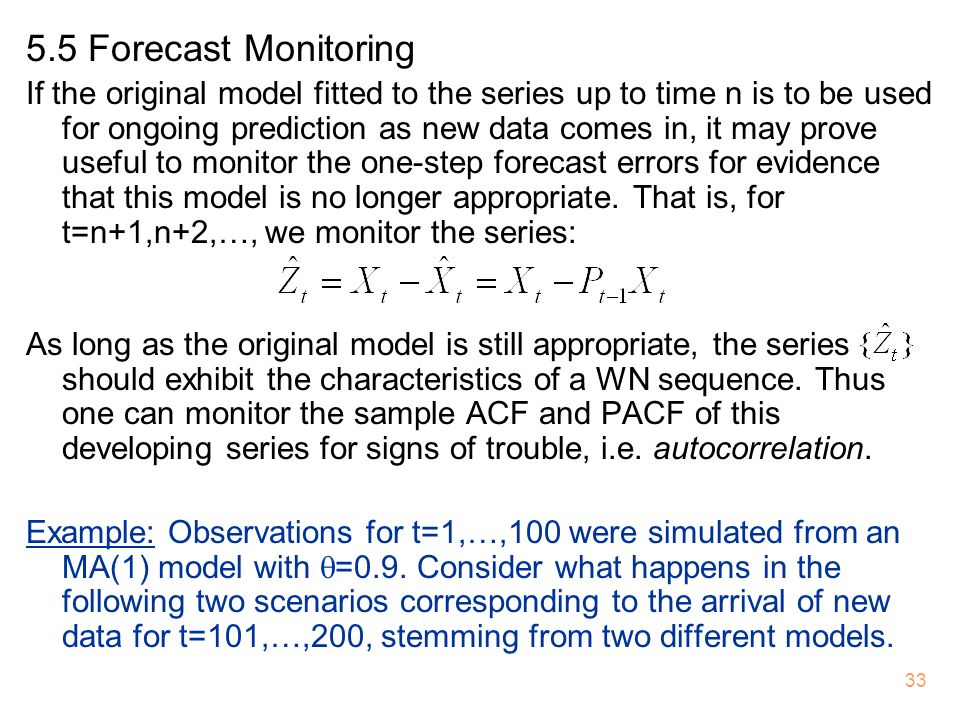 5.5 Forecast Monitoring