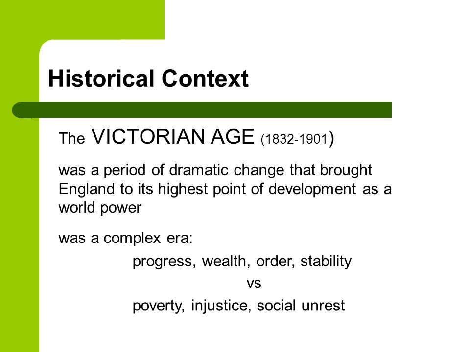 victorian era influence of context