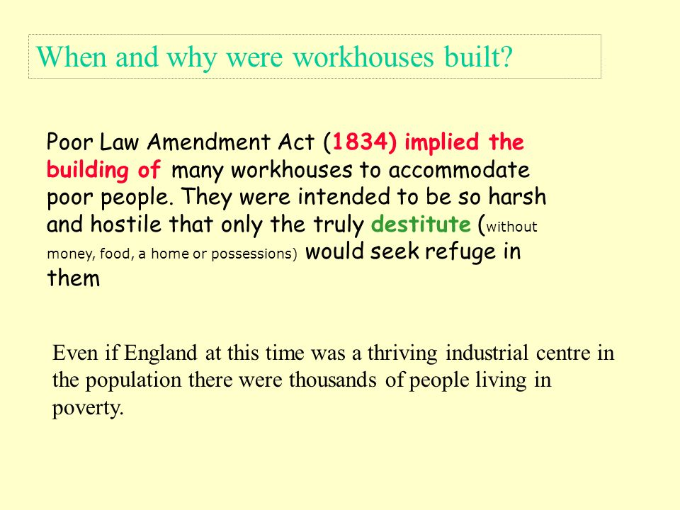 poor law amendment act 1834 essay