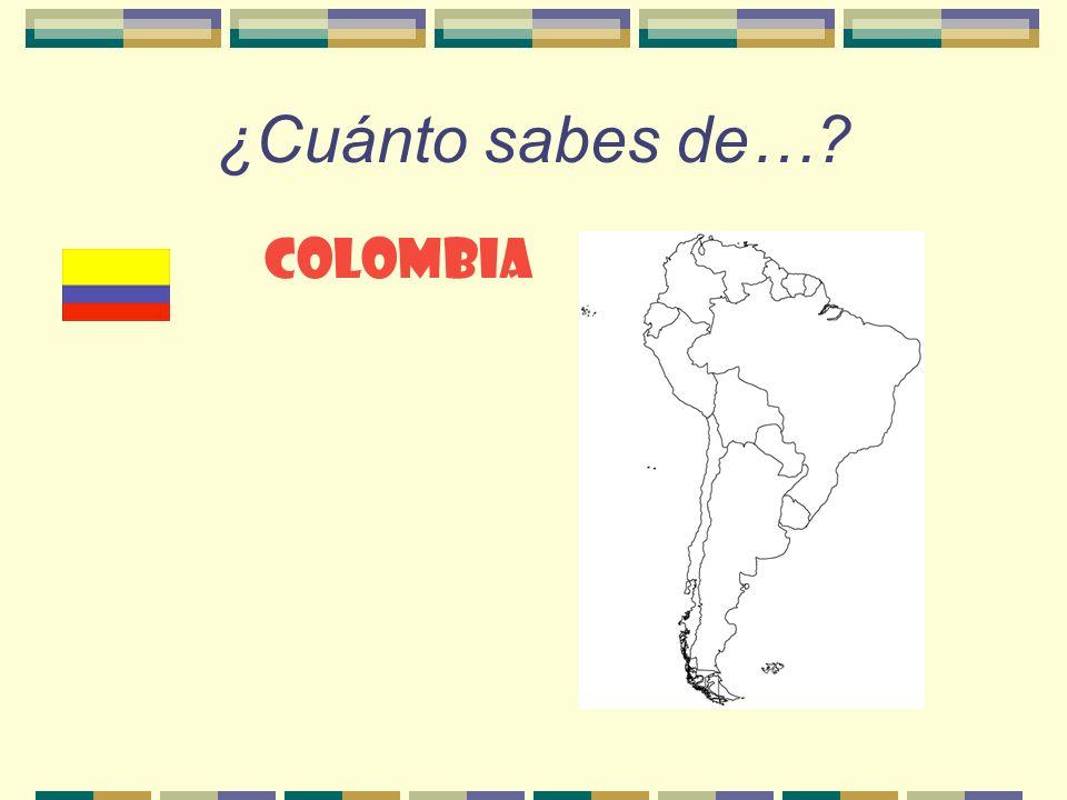 ¿Cuánto sabes de… Colombia