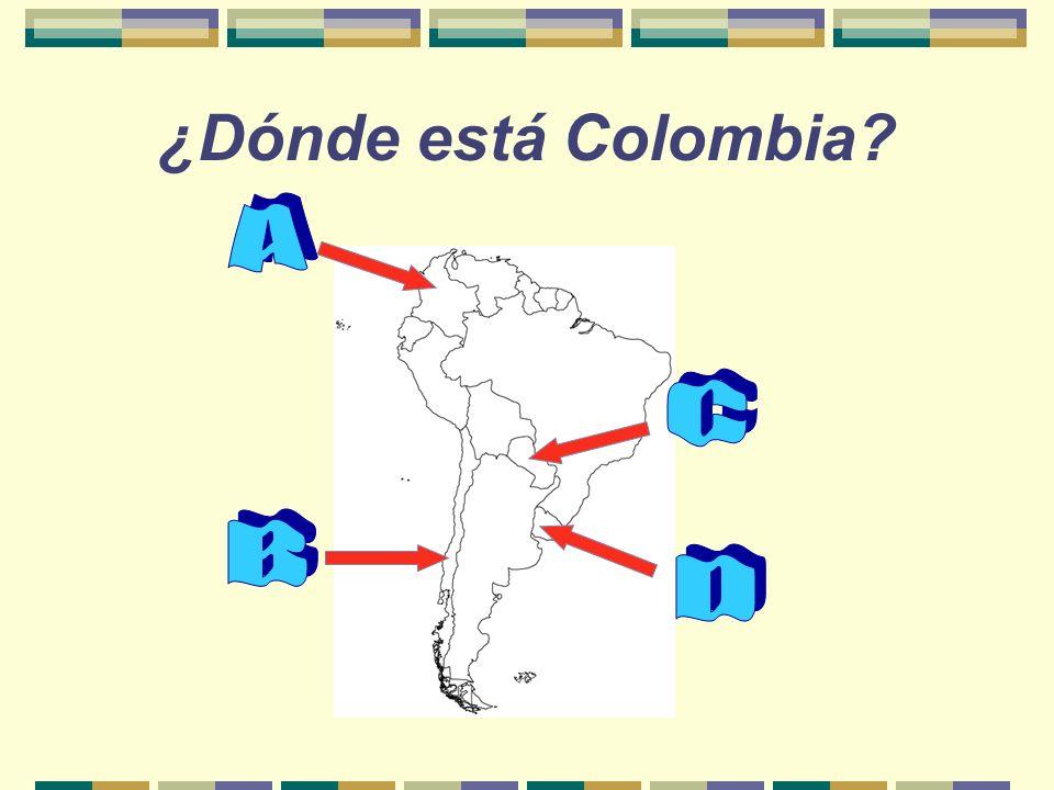 ¿Dónde está Colombia A C B D