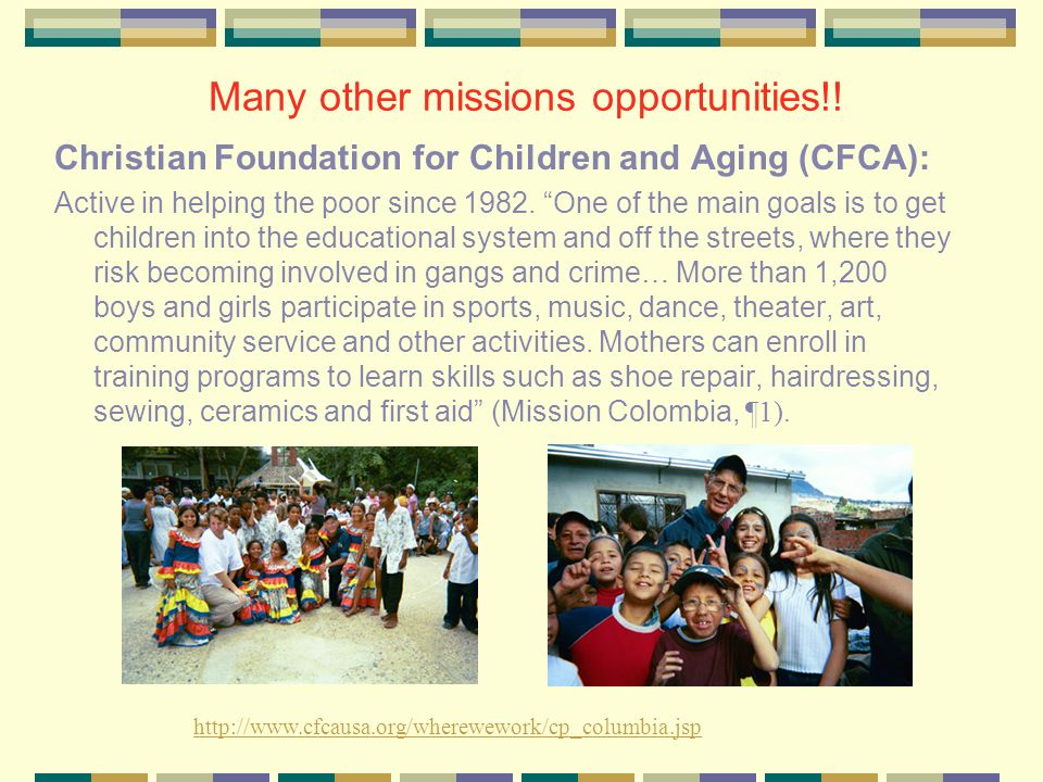 Many other missions opportunities!!