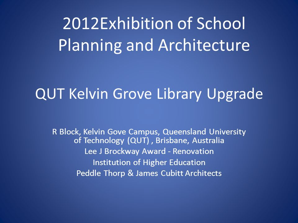 QUT Kelvin Grove Library Upgrade