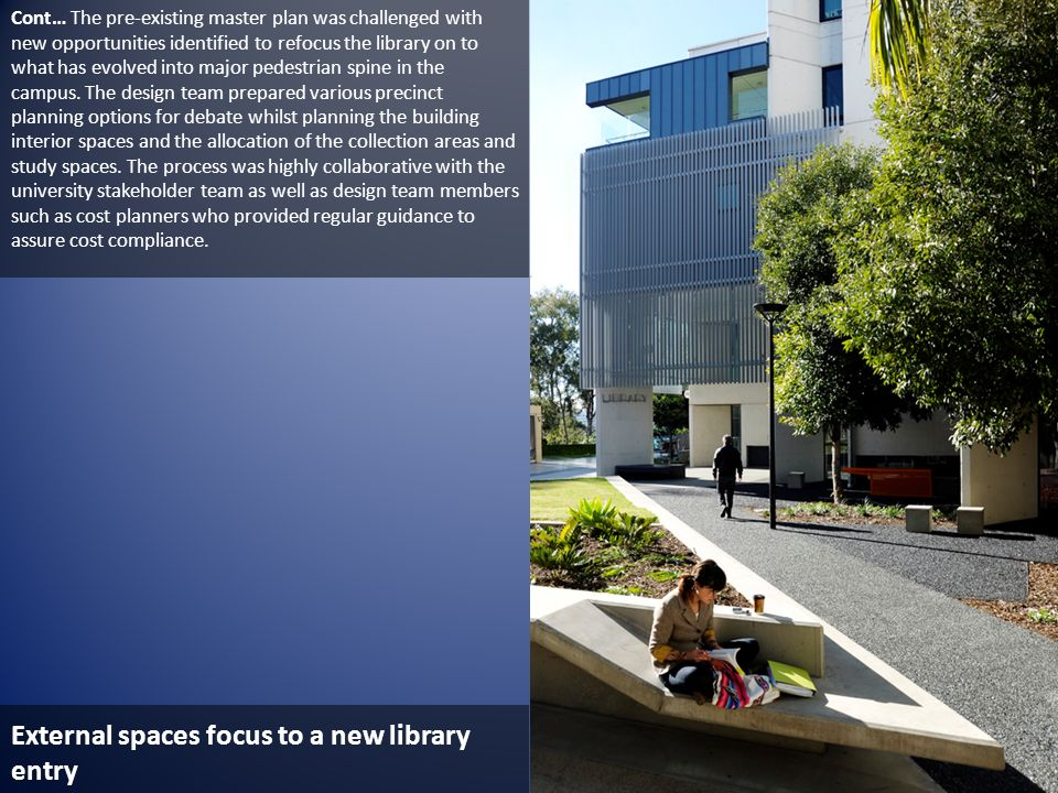 External spaces focus to a new library entry