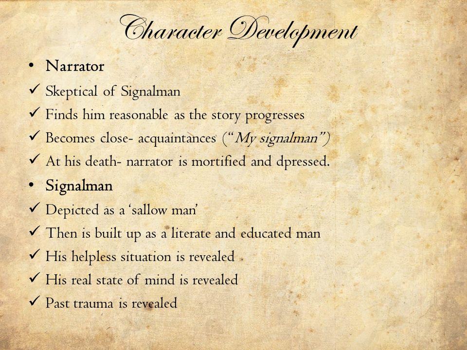 an analysis of the signalman The signalman, racconto narrativo realizzato da charles dickens, è pubblicato per  the previous paragraph developed the analysis of the.