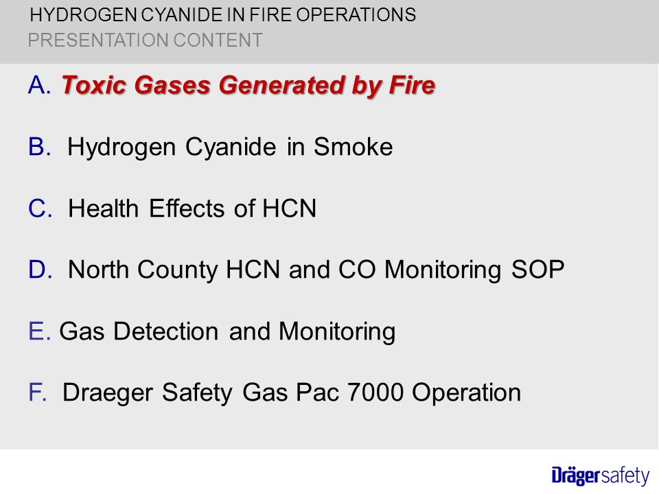 HYDROGEN CYANIDE IN FIRE OPERATIONS - ppt download