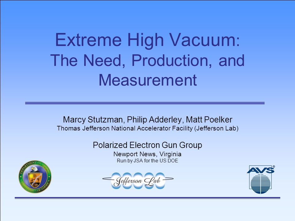 Extreme High Vacuum The Need Production And Measurement