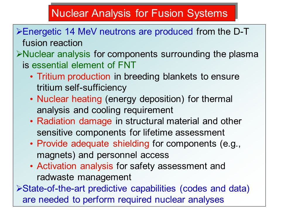 an analysis of the nuclear fusion reaction Nuclear fission and nuclear fusion  analysis of the trace elements in the ore suggested  and the first artificial fusion reaction occurred when the.