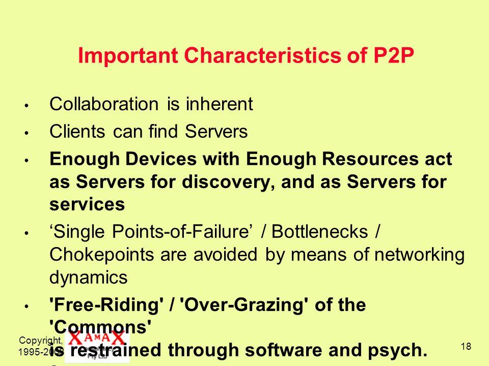 Important Characteristics of P2P