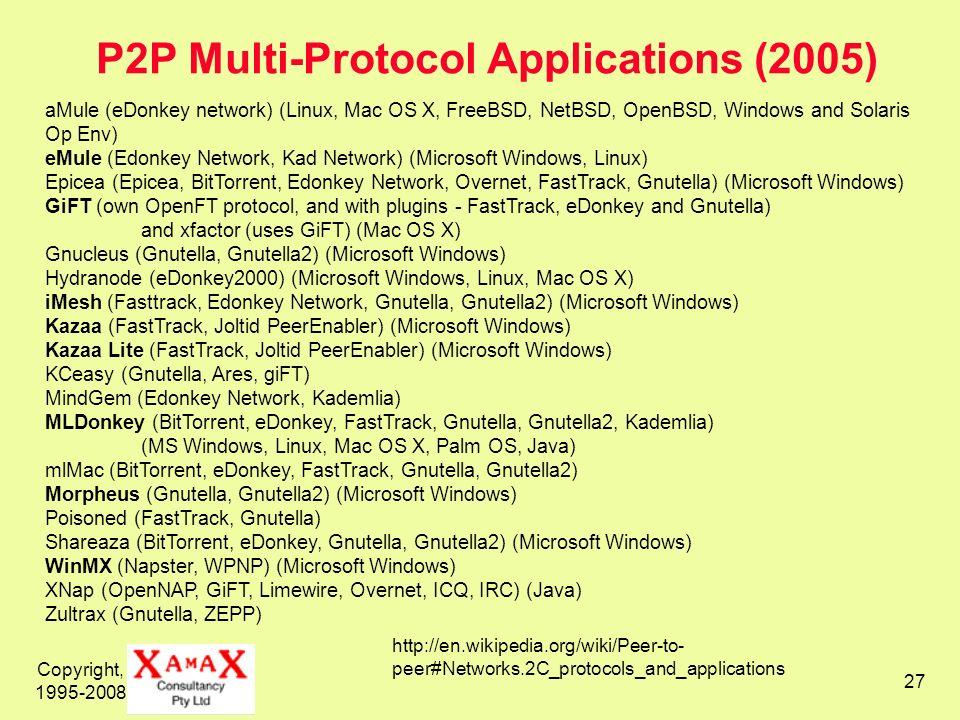 P2P Multi-Protocol Applications (2005)