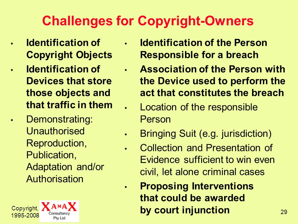 Challenges for Copyright-Owners