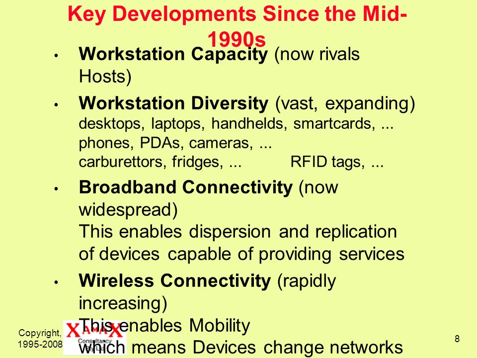 Key Developments Since the Mid-1990s