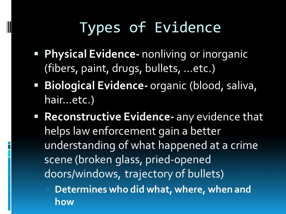 significance of criminal evidence The significance of culture in criminal procedure reform: why the revised disclosure scheme cannot work show all authors hannah quirk.