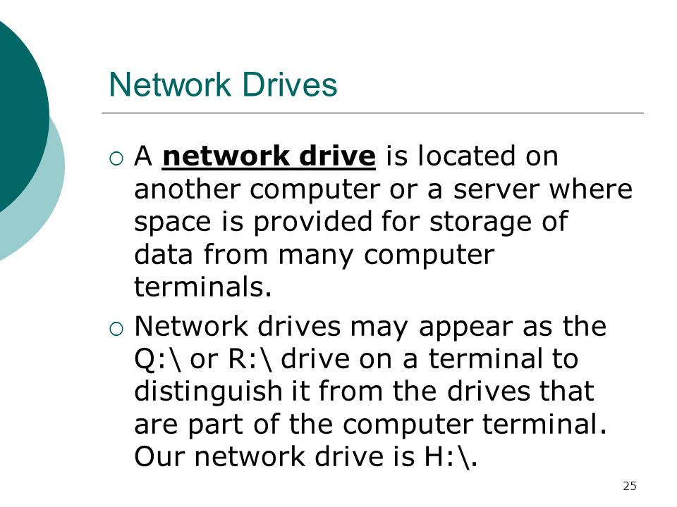 how to connect a network drive on another computer