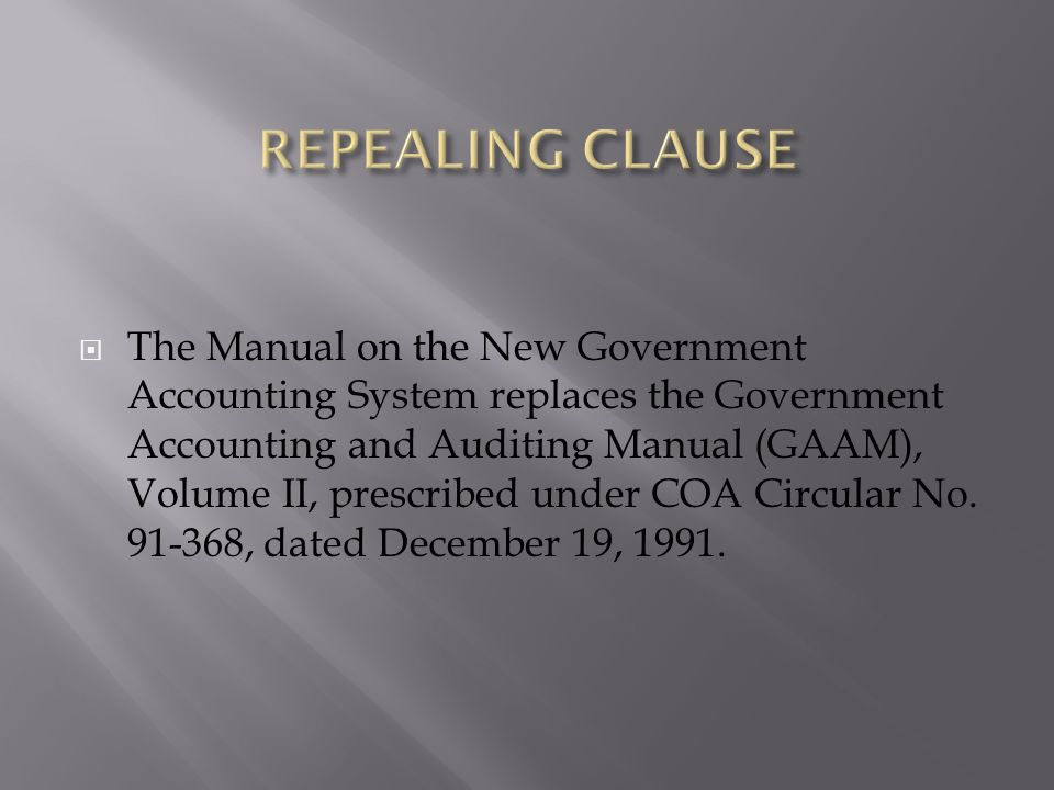 new government accounting system in the philippines Republic of the philippines department of  sections 268 to 366 of the coa  manual on new government accounting system for lgus.