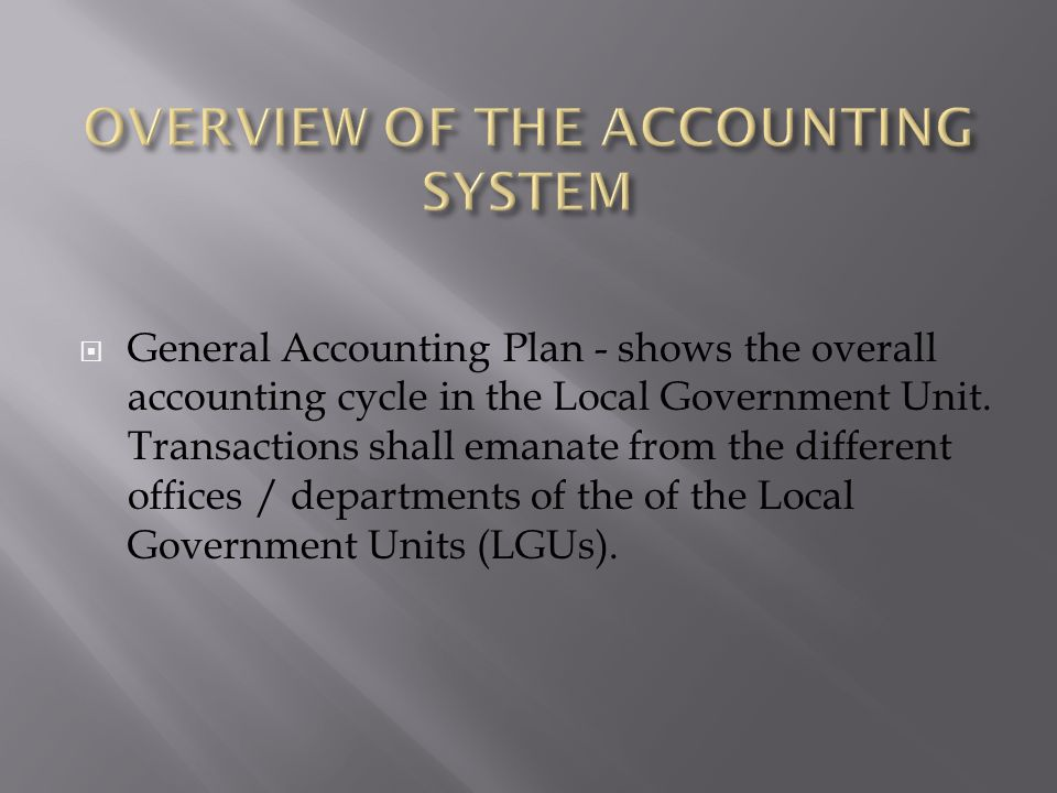 Accounting Software for the Government Organization