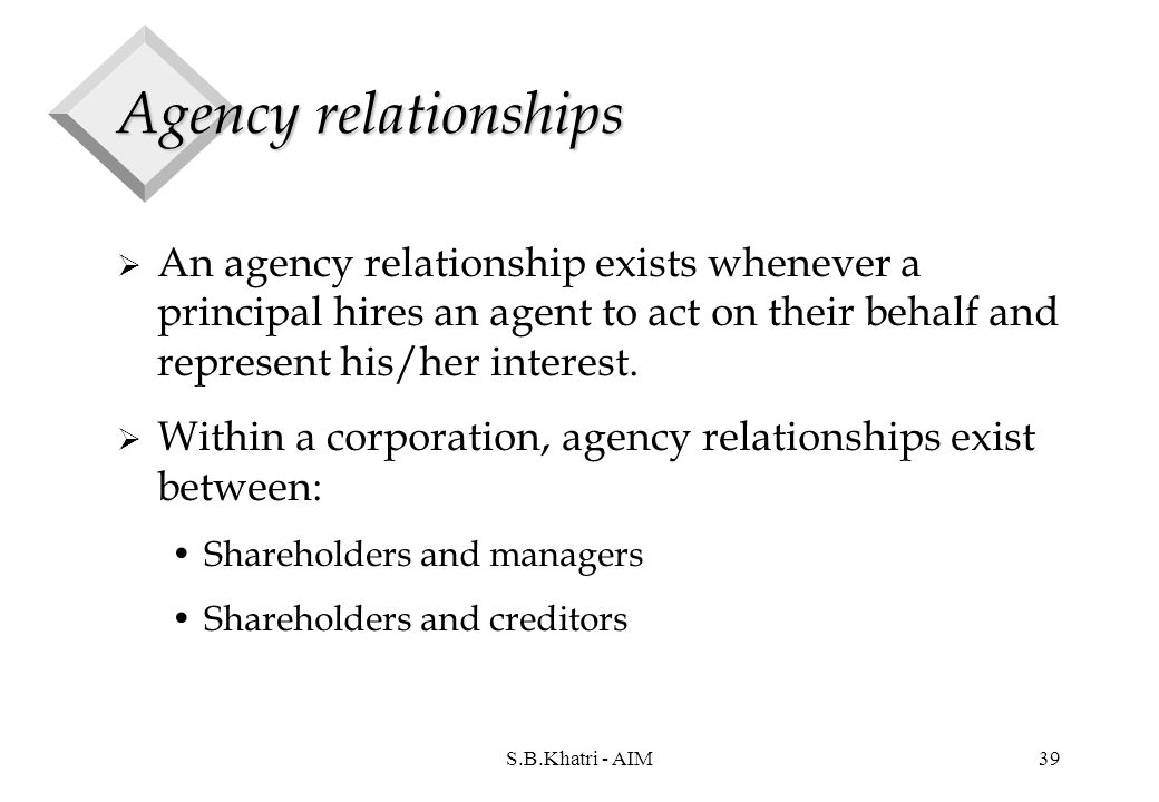 stockholders and creditors agency relationship
