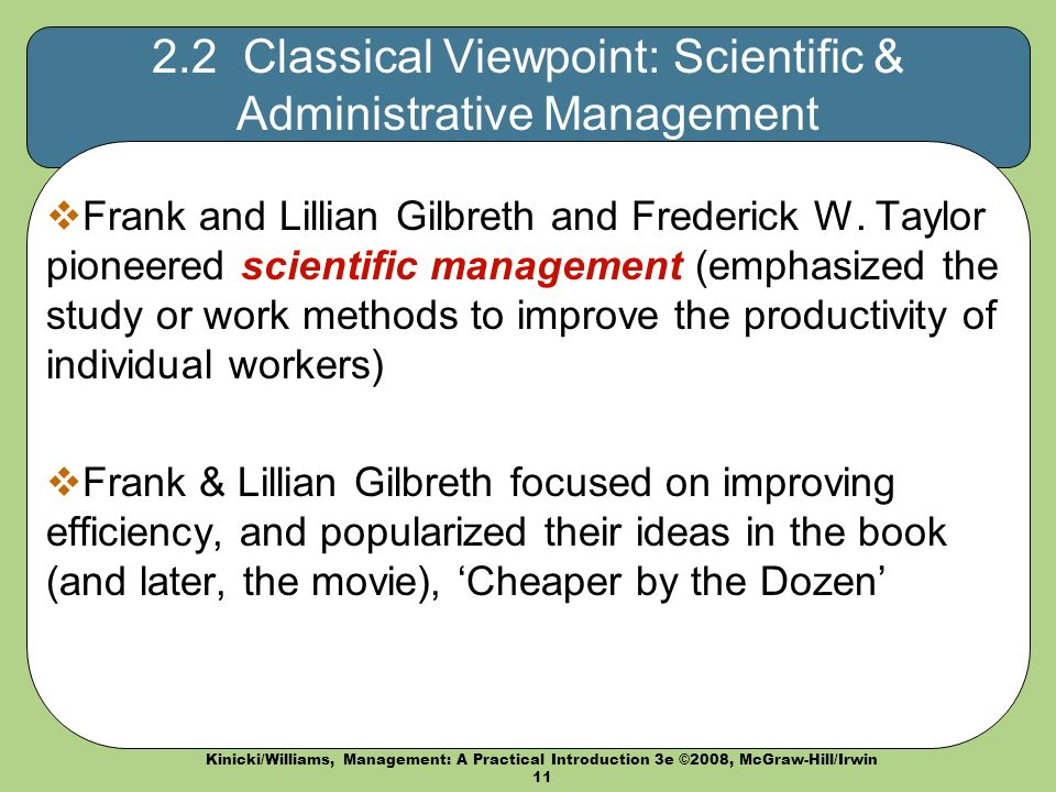 an analysis of the chapter two of the textbook and the scientific management Chapter-by-chapter answer key 4 c generalization is one of the goals of scientific inquiry referring back to the book.