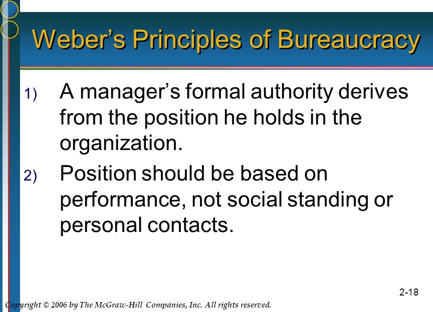max weber concept of authority According to max weber, only the traditional and rational-legal types of authority relationships are stable enough to provide the fundament for permanent administrative structures such as eg business organizations.