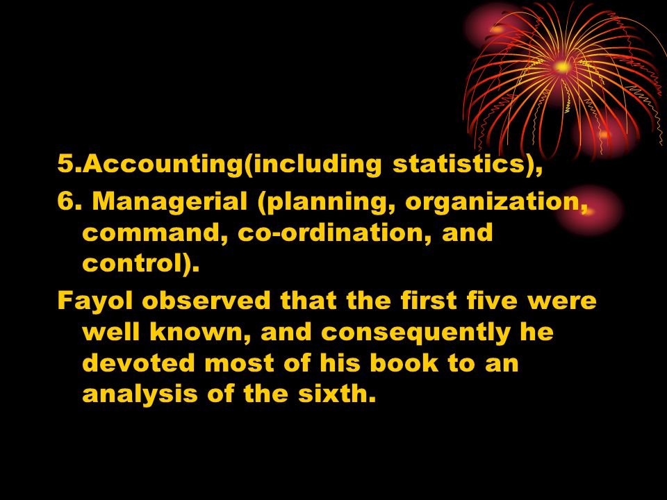 5.Accounting(including statistics),