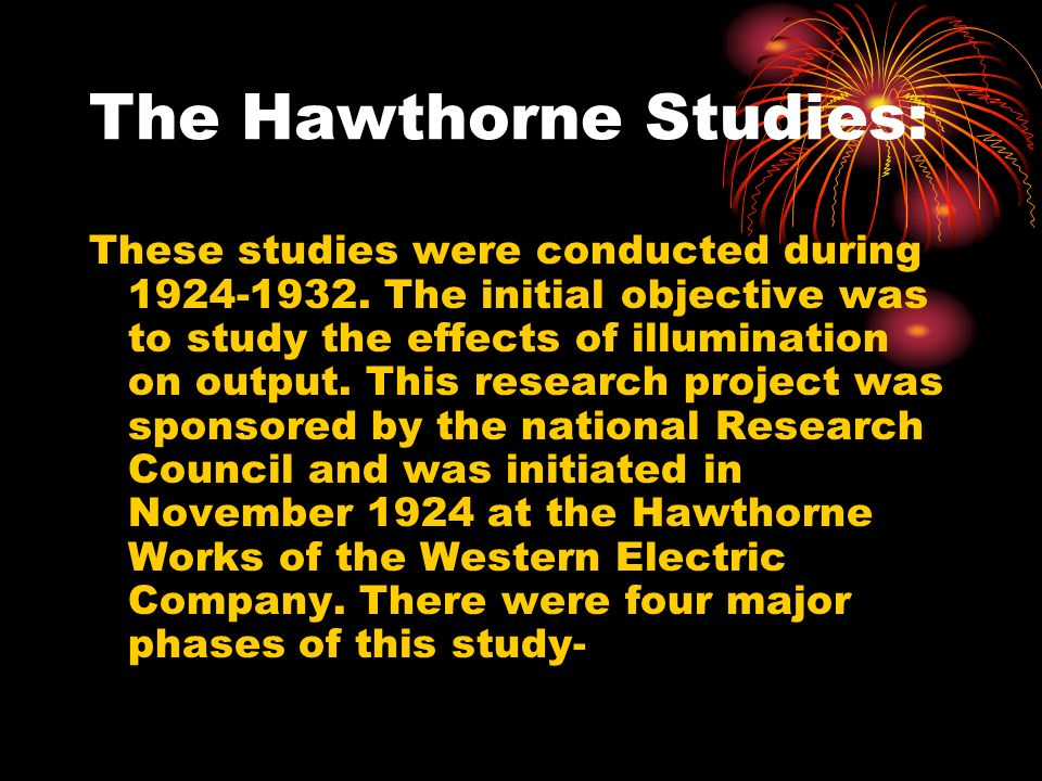 The Hawthorne Studies: