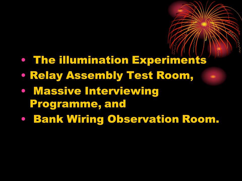 The illumination Experiments