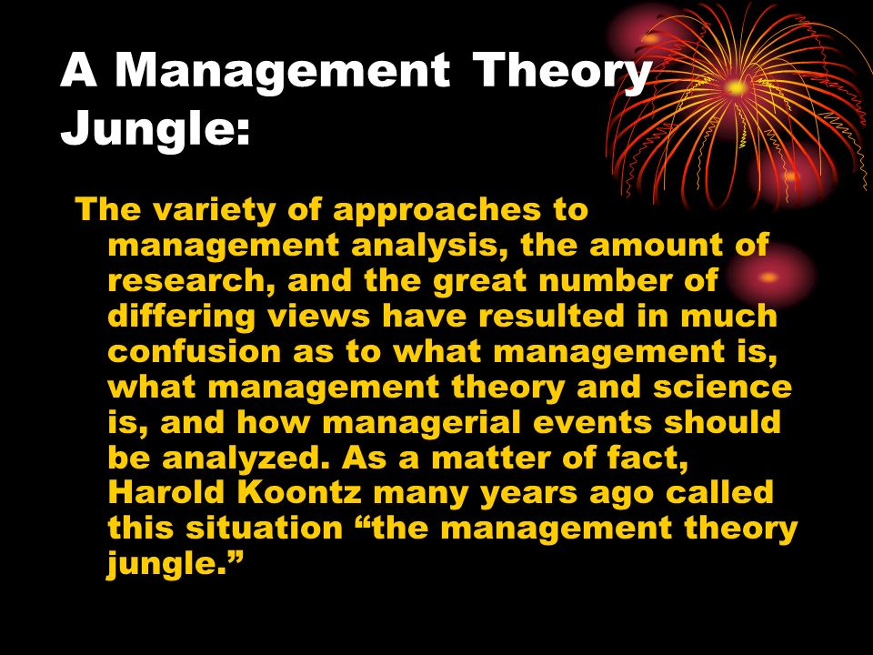 A Management Theory Jungle:
