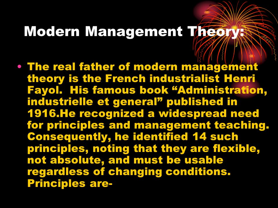 Modern Management Theory: