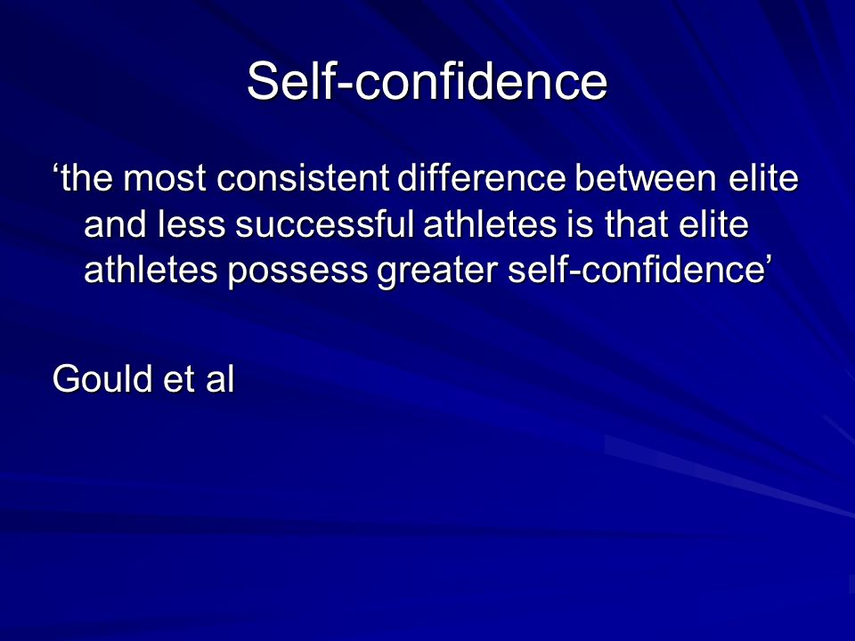 differences between self efficacy and self confidence A number of theories were put forward exploring the notion of self-confidence self-efficacy  they found no between-coach differences except for the frequency of.