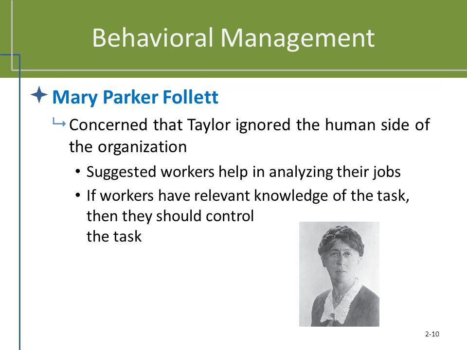 Behavioral Management