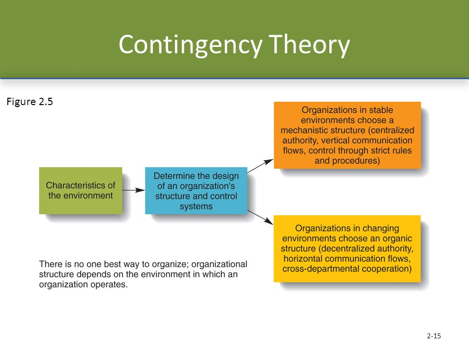 Contingency Theory Figure 2.5