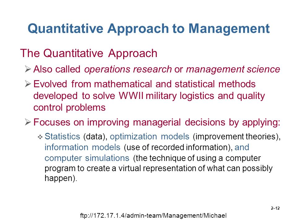 quantitative techniques in management Quantitative easing real estate  quantitative techniques for decision making  theory of constraints is a management concept which helps organization deal with .