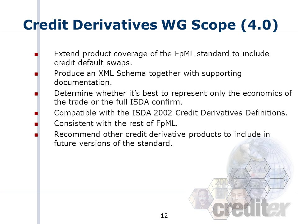 Credit Derivatives WG Scope (4.0)