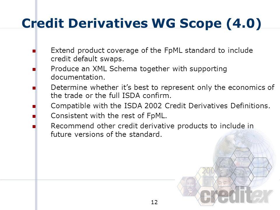 Credit Derivatives WG Scope (4.0)