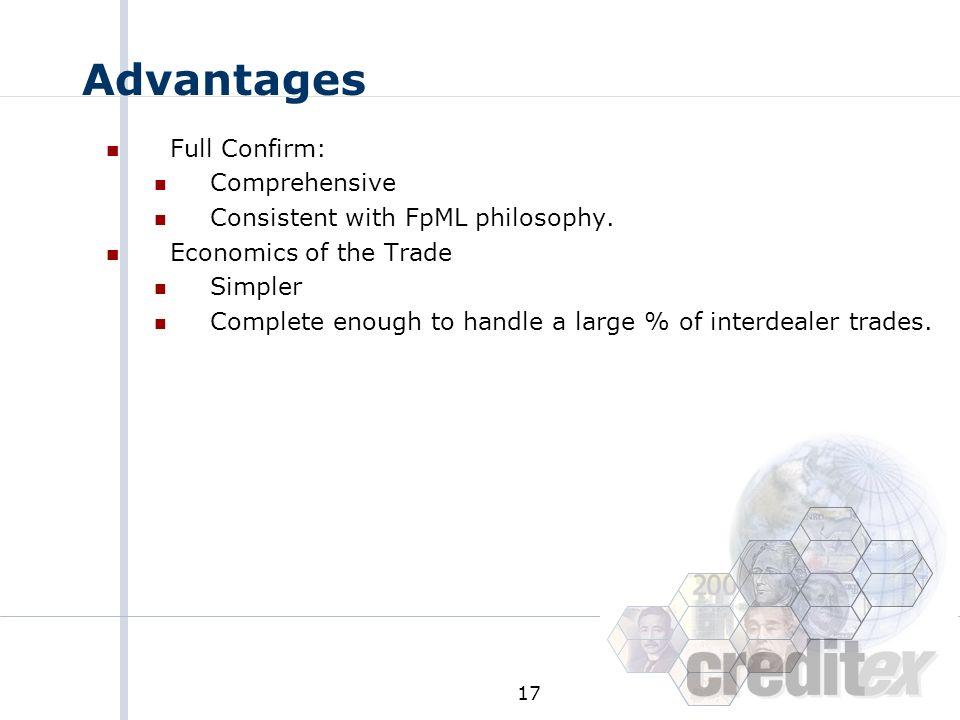 Advantages Full Confirm: Comprehensive