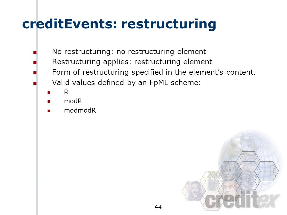 creditEvents: restructuring