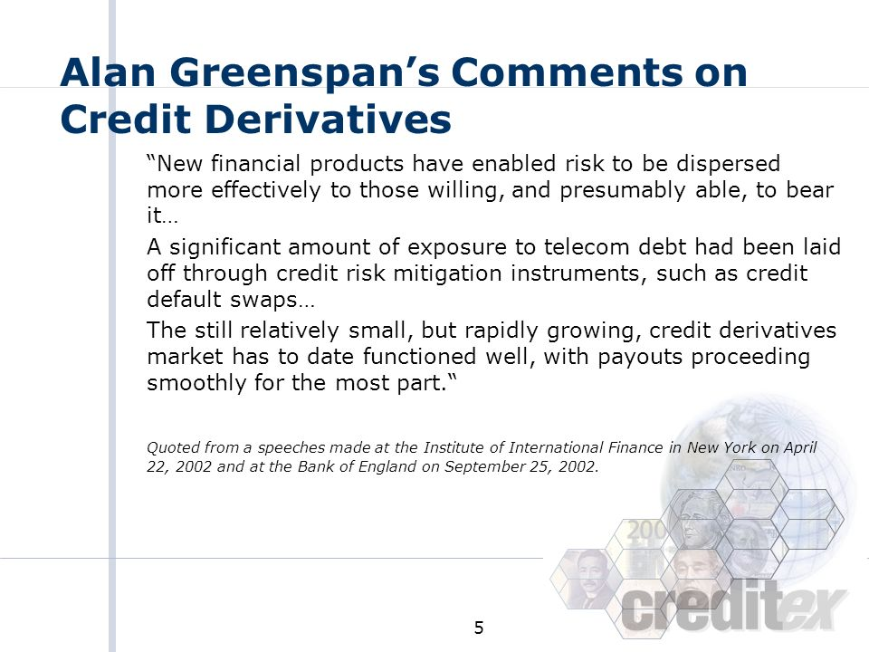Alan Greenspan's Comments on Credit Derivatives