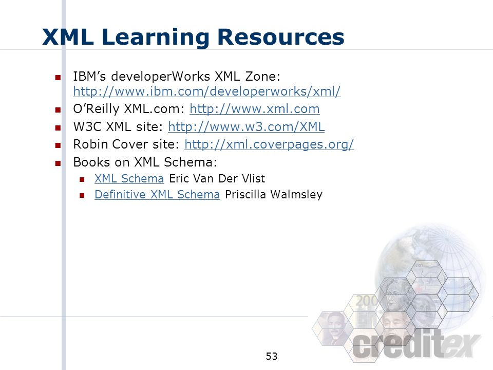 XML Learning Resources