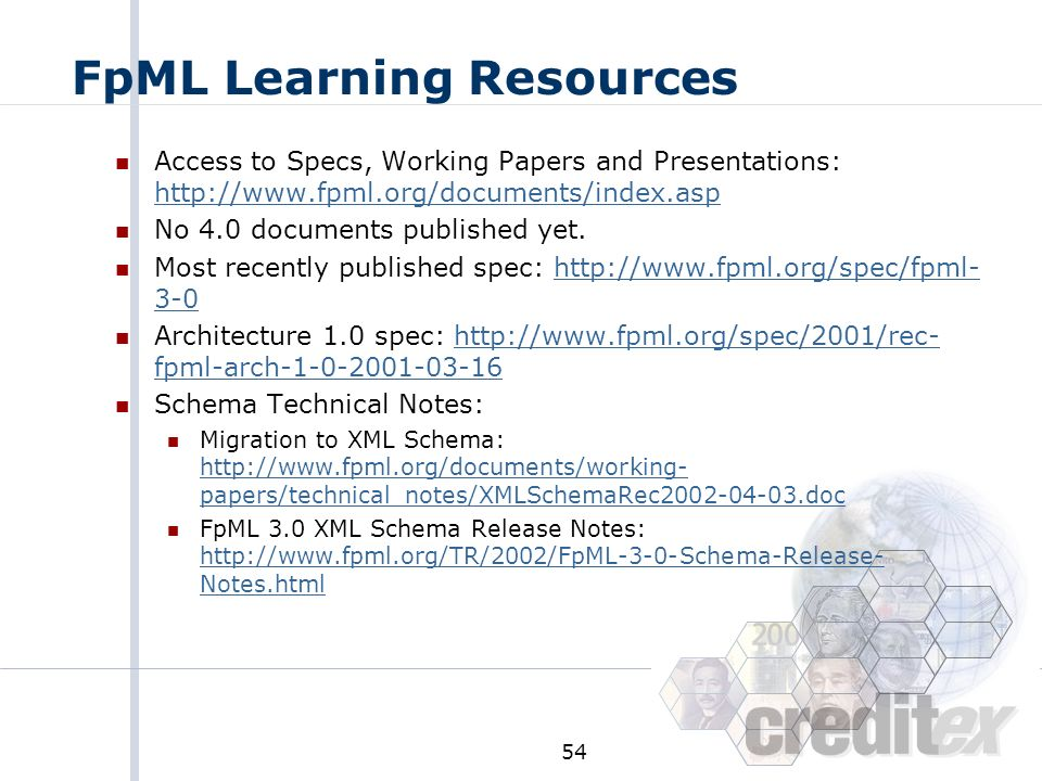 FpML Learning Resources