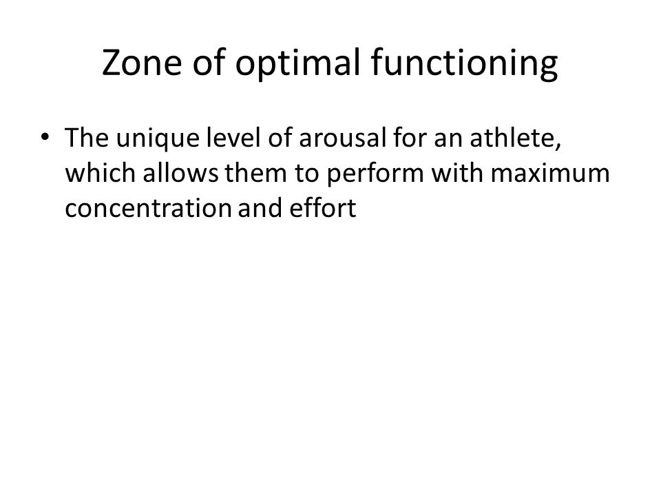 Section B: Psychology of sport performance