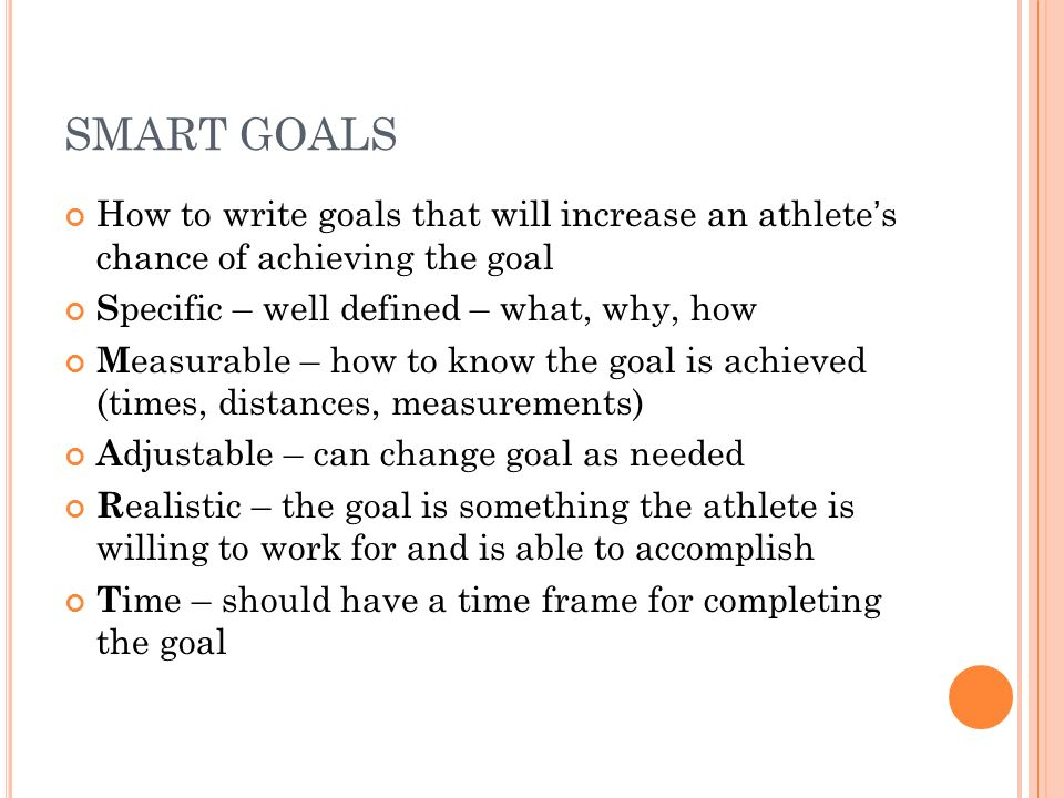 writing smart goals A smart goal is defined as one that is specific, measurable, achievable, results-focused, and time- bound below is a definition of each of the smart goal criteria.