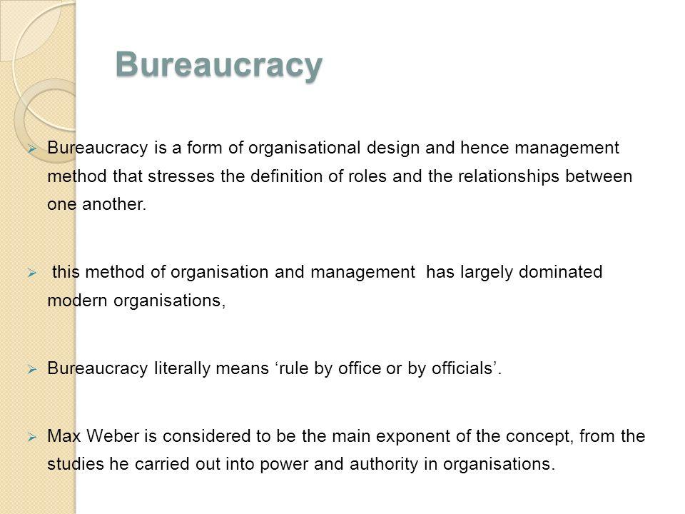 disadvantages of bureaucracy