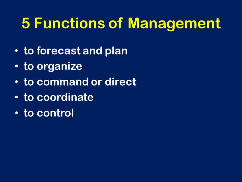 5 Functions of Management