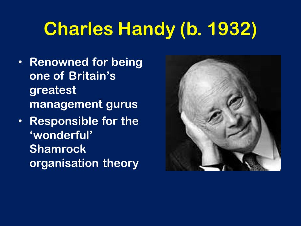 Charles Handy (b. 1932) Renowned for being one of Britain's greatest management gurus.