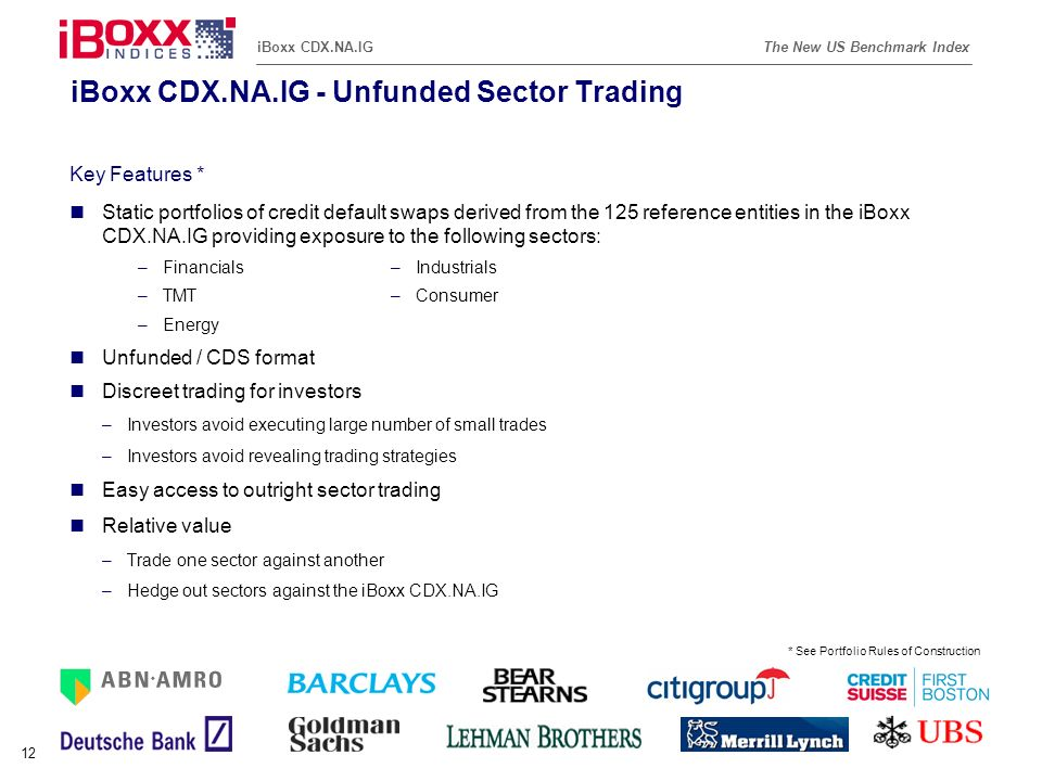 iBoxx CDX.NA.IG - Unfunded Sector Trading